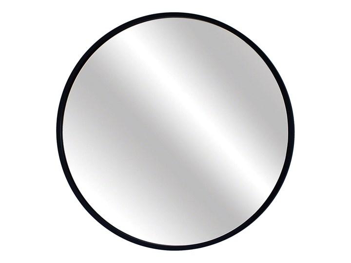 Lustro Scandi – okrągłe w czarnej ramie Lustro z ramą Ścienne Pomieszczenie Łazienka Kolor Czarny