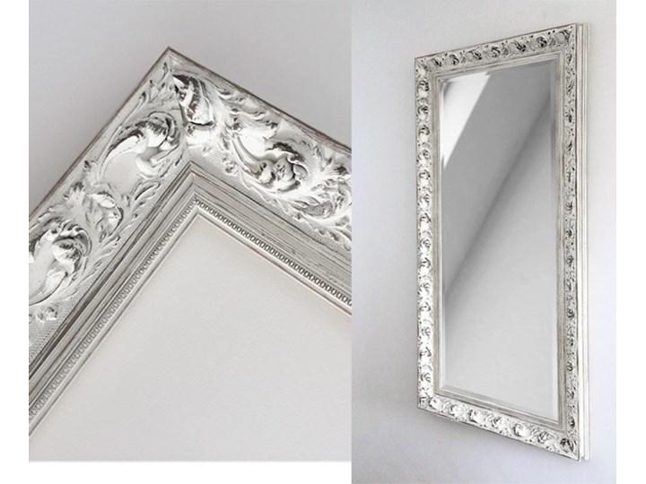 Lustro Prowansja – w białej postarzanej ramie Lustro z ramą Ścienne Kolor Biały Prostokątne Kategoria Lustra