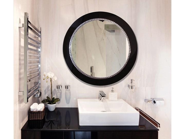 Lustro Bracelet – łazienkowe glamour czarne Pomieszczenie Przedpokój Ścienne Lustro z ramą Prostokątne Okrągłe Pomieszczenie Sypialnia