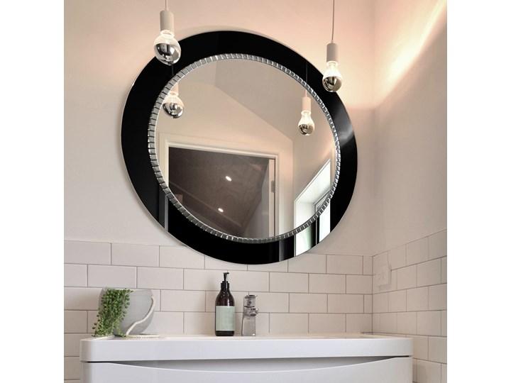 Lustro Bracelet – łazienkowe glamour czarne Prostokątne Lustro z ramą Ścienne Okrągłe Pomieszczenie Łazienka