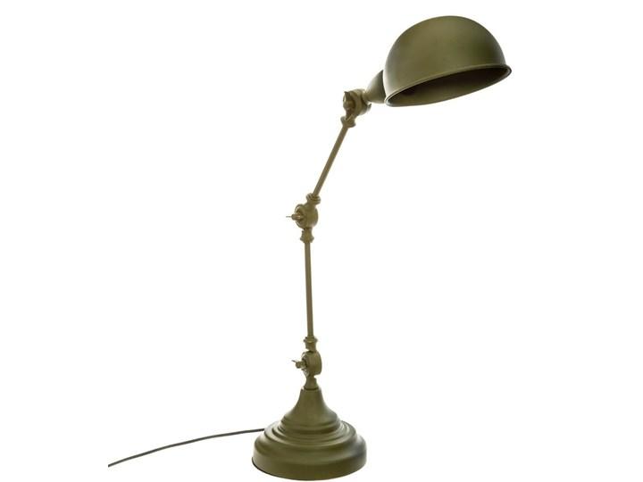 Lampka na biurko KAKI BASALT, metalowa, kolor khaki