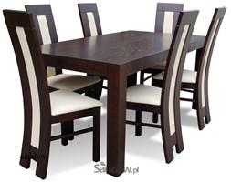 Stół do jadalni S-21 90x170x270 + 6 krzeseł K-60