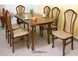 stół S-4 80x140x180 (blat owal pogrubiony) + 6 krzeseł K-16