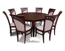 Stół do salonu S-19 śred. 150cm. po rozł. 200cm. + 8 krzeseł K-49