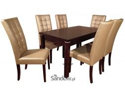 Stół S-18 80x140x240 + 6 Krzeseł wąskich pikowanych DAS