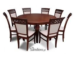 stół S-19 śred. 150cm. po rozł. 200cm. + 8 krzeseł K-52