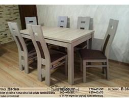 Stół Hades z 6 krzesłami, prostokątny (80x140x180), dąb sonoma