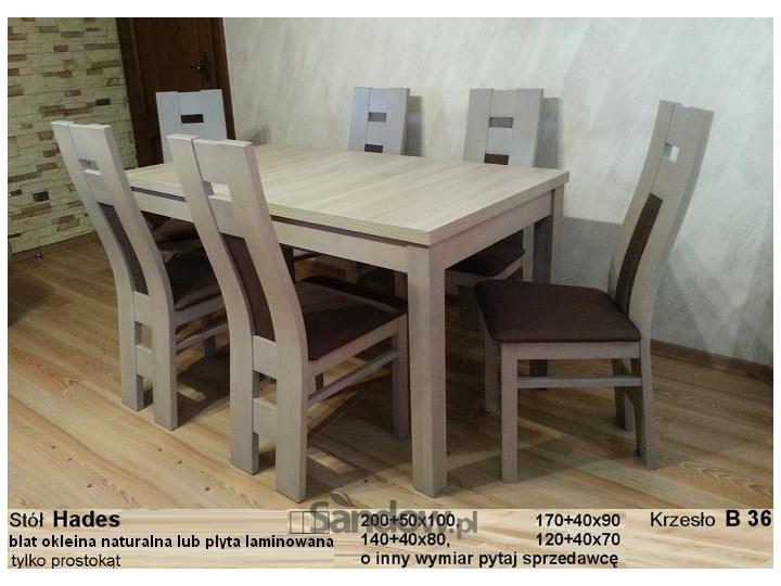 Modne ubrania Stół Hades z 6 krzesłami, prostokątny (80x140x180), dąb sonoma XT03