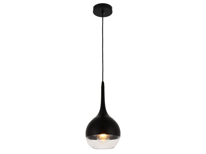 NOWOCZESNA LAMPA WISZĄCA CZARNA FRUDO Lampa z kloszem Szkło Metal Ilość źródeł światła 1 źródło