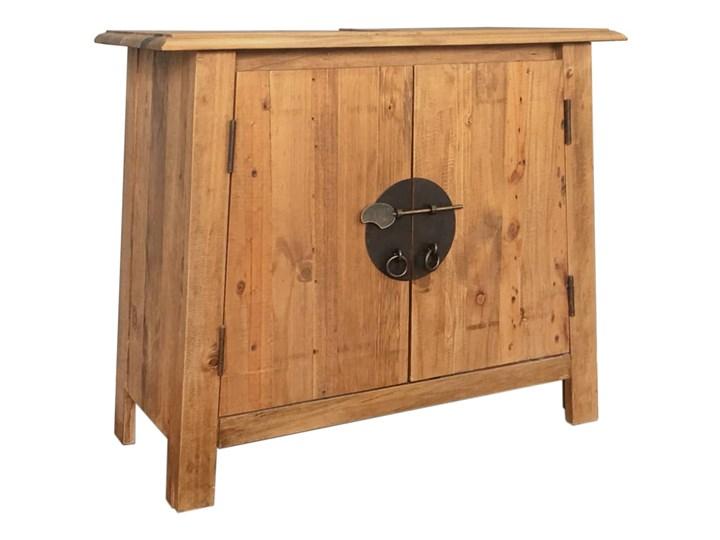 vidaXL Szafka łazienkowa pod umywalkę, drewno sosnowe, 70x32x63 cm Szerokość 70 cm Głębokość 32 cm Szafki Stojące Rodzaj frontu Drzwiczki