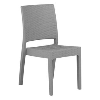 Beliani Zestaw 2 Krzeseł Ogrodowych Jasnoszarych Fossano