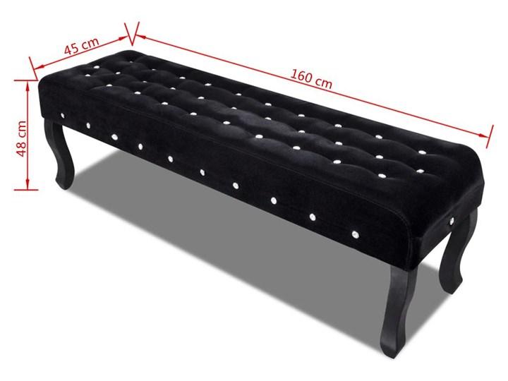 vidaXL Czarna, aksamitna ławka z kryształowymi guzikami Pikowana Kategoria Ławki do salonu