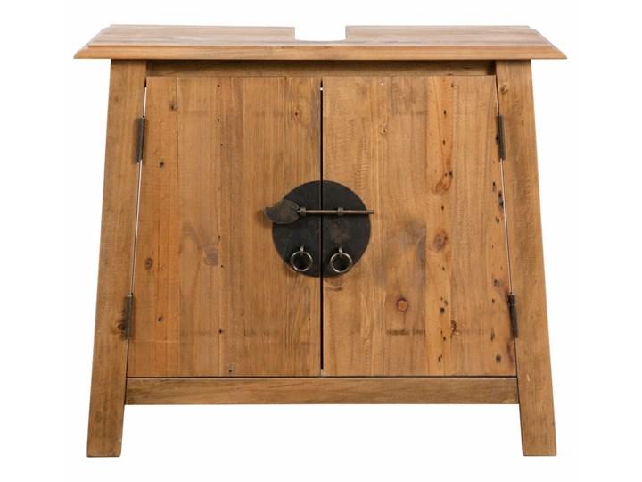 vidaXL Szafka łazienkowa pod umywalkę, drewno sosnowe, 70x32x63 cm Szerokość 70 cm Stojące Szafki Głębokość 32 cm Kategoria Szafki stojące