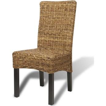 vidaXL Krzesła stołowe, 6 szt., abaka i lite drewno mango
