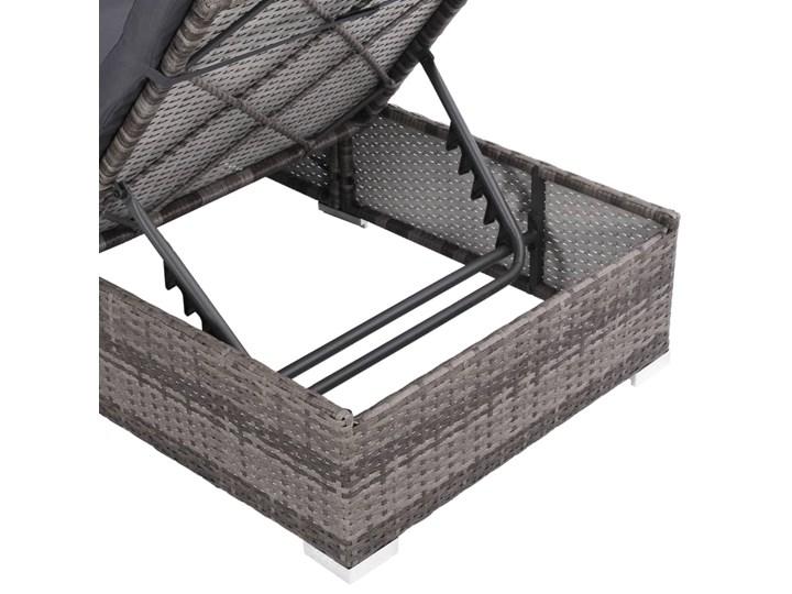 vidaXL 3-cz. zestaw wypoczynkowy do ogrodu, poduszki, rattan PE, szary Stal Zawartość zestawu Leżak Zestawy wypoczynkowe Technorattan Tworzywo sztuczne Kategoria Zestawy mebli ogrodowych