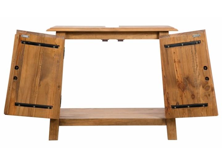 vidaXL Szafka łazienkowa pod umywalkę, drewno sosnowe, 70x32x63 cm Szafki Rodzaj frontu Drzwiczki Szerokość 70 cm Głębokość 32 cm Stojące Kategoria Szafki stojące