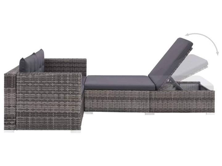 vidaXL 3-cz. zestaw wypoczynkowy do ogrodu, poduszki, rattan PE, szary Tworzywo sztuczne Stal Technorattan Zestawy wypoczynkowe Liczba miejsc Dwuosobowy