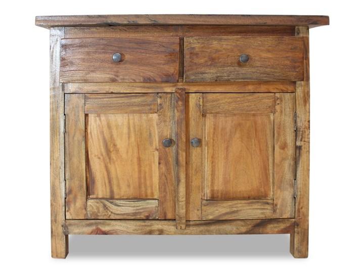 vidaXL Szafka, lite drewno z odzysku, 75 x 30 x 65 cm Głębokość 30 cm Szerokość 105 cm Z szafkami i szufladami Szerokość 75 cm Kolor Brązowy