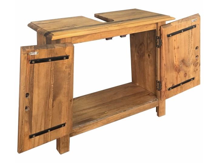 vidaXL Szafka łazienkowa pod umywalkę, drewno sosnowe, 70x32x63 cm Stojące Głębokość 32 cm Szerokość 70 cm Rodzaj frontu Drzwiczki Szafki Kategoria Szafki stojące