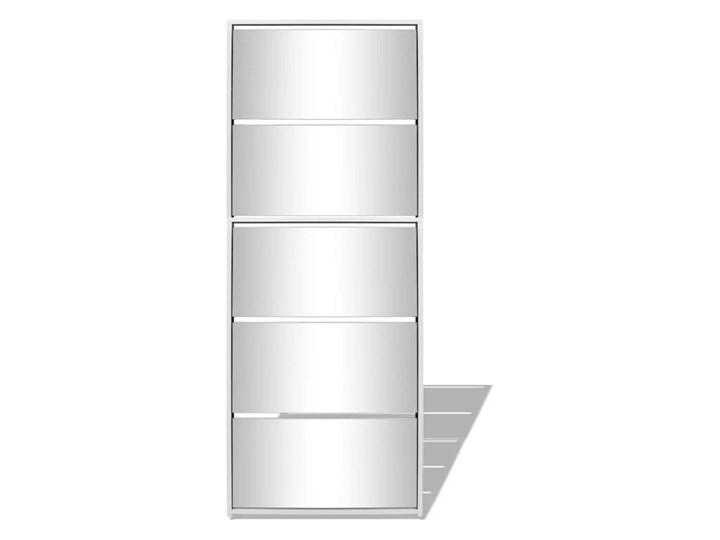vidaXL Szafka na buty z 5 półkami, lustrzana, biała, 63x17x169,5 cm Płyta MDF Szkło Kategoria Szafki i regały