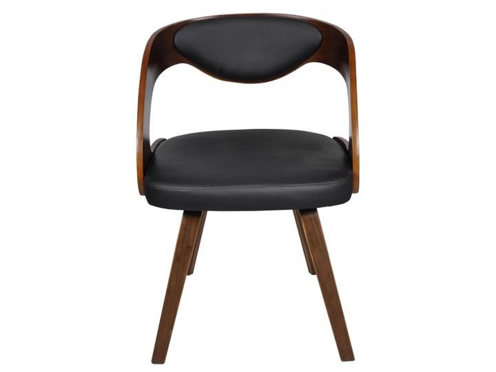 vidaXL Krzesła stołowe, 4 szt., brązowe, gięte drewno i sztuczna skóra Szerokość 48,5 cm Wysokość 76 cm Szerokość 52 cm Tapicerowane Płyta MDF Tkanina Krzesło inspirowane Skóra ekologiczna Kolor Brązowy Tworzywo sztuczne Głębokość 44 cm Pomieszczenie Jadalnia