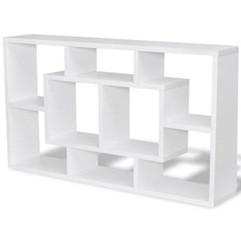vidaXL Wisząca półka z 8 przegrodami, biała