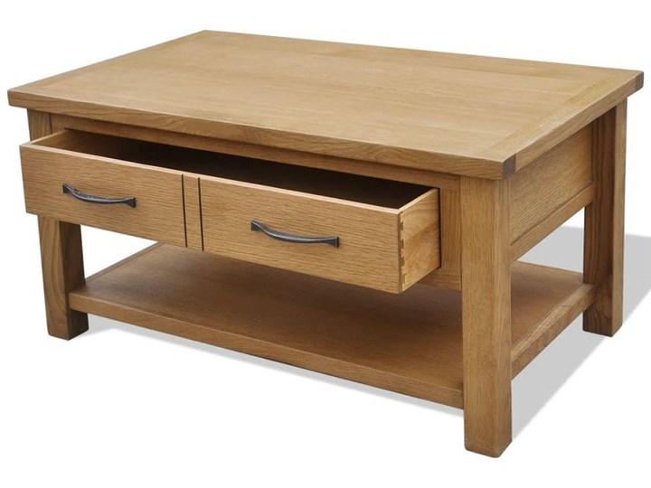 vidaXL Stolik kawowy, 88 x 53 x 45 cm, lite drewno dębowe Kategoria Stoliki i ławy Styl Rustykalny