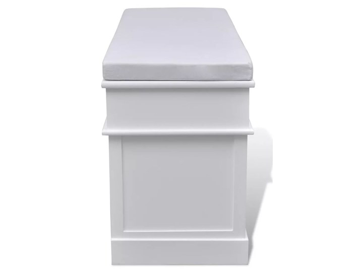 vidaXL Ławka z poduszką, 2 szufladami i 3 koszami, biała Pomieszczenie Salon Kolor Biały