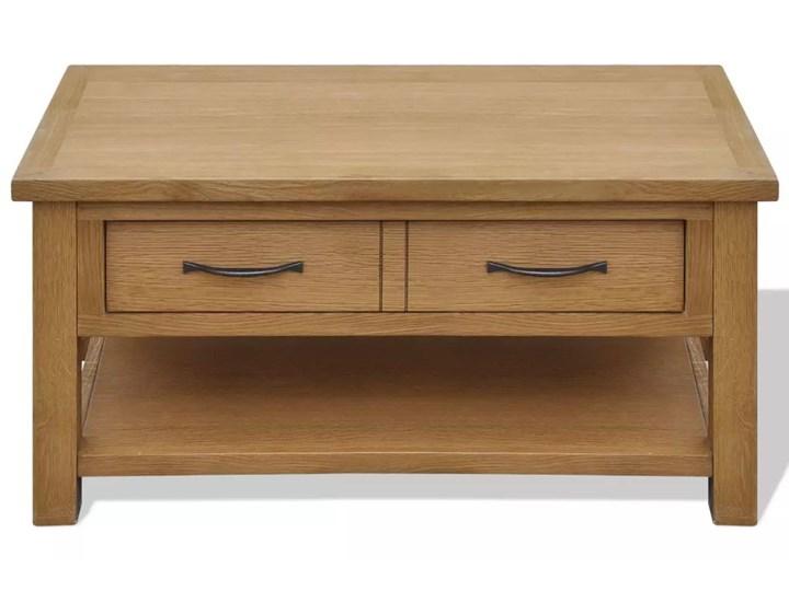 vidaXL Stolik kawowy, 88 x 53 x 45 cm, lite drewno dębowe Kolor Brązowy Kategoria Stoliki i ławy