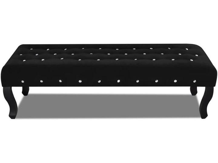 vidaXL Czarna, aksamitna ławka z kryształowymi guzikami Pikowana Pomieszczenie Sypialnia Kategoria Ławki do salonu