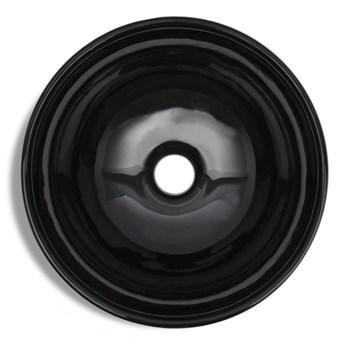 vidaXL Umywalka łazienkowa, ceramiczna, czarna