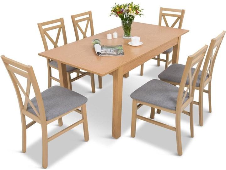 Komplet drewniane krzesła z rozkładanym stołem 120-160cm 6+1 Da P 6 Meblobranie