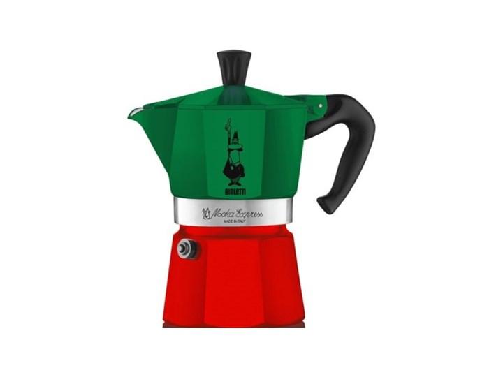 Kawiarka BIALETTI Moka Express Italia 6 TZ Zielono-czerwony Aluminium Kolor Zielony