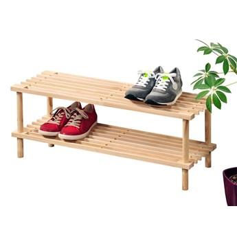 Szafka na buty drewniana, 2 poziomy, kolor naturalny, KESPER