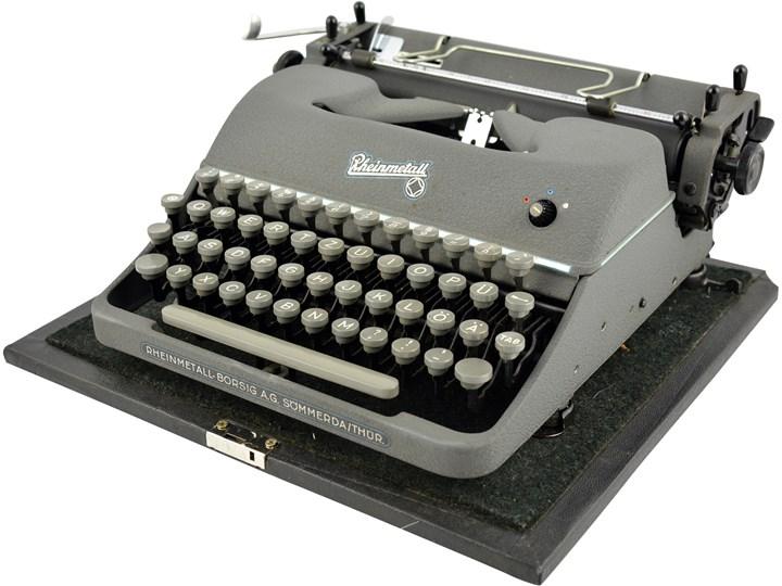 Maszyna do pisania, Rheinmetall Borsig AG, Niemcy, lata 40.