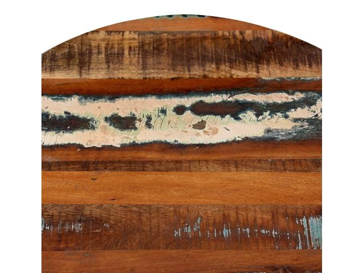 vidaXL Stolik kawowy, lite drewno odzyskane Wysokość 35 cm Metal Rodzaj nóg Krzyżak