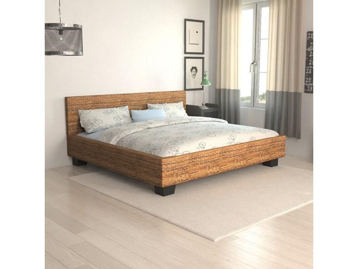 vidaXL Rama łóżka wyplatana z abaki, 180 x 200 cm
