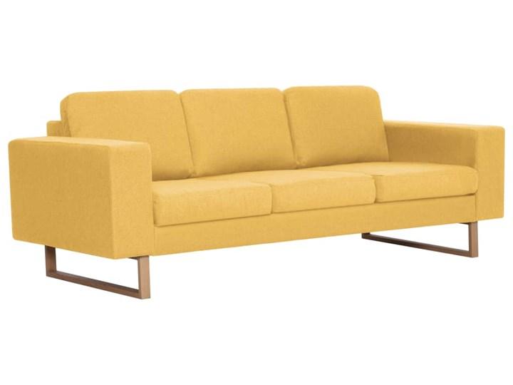 vidaXL Zestaw 2 sof tapicerowanych tkaniną, żółty