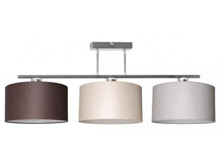 Nowoczesna Lampa z Abażurami Chrom Sufitowa Metal Lampa z kloszem Lampa z abażurem Styl Nowoczesny