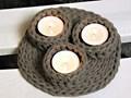Ozdobny mały świecznik - produkt handmade Podgrzewacz