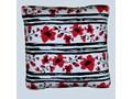 Poduszka - czerwone kwiaty 40 cm x 40 cm