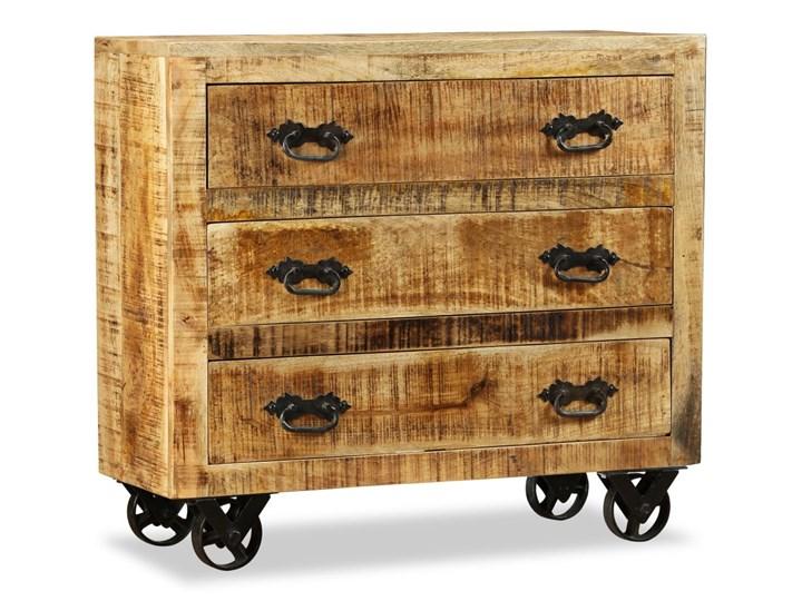 vidaXL Komoda z 3 szufladami, surowe drewno mango Głębokość 30 cm Z szufladami Styl Industrialny Styl Rustykalny