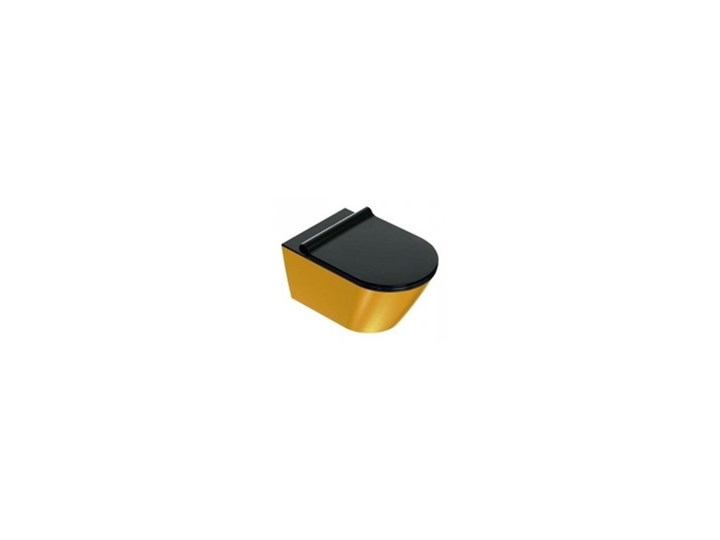 Catalano Zero miska WC wisząca 55 NewFlush bezrantowa +śruby moc. (5KFST00) czarny/złoty (1VS55NRNO)