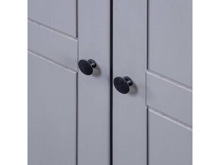 vidaXL Szafa trzydrzwiowa, szara, 118x50x171,5 cm, sosna, seria Panama Drewno Szerokość 118 cm Głębokość 50 cm Kategoria Szafy do garderoby