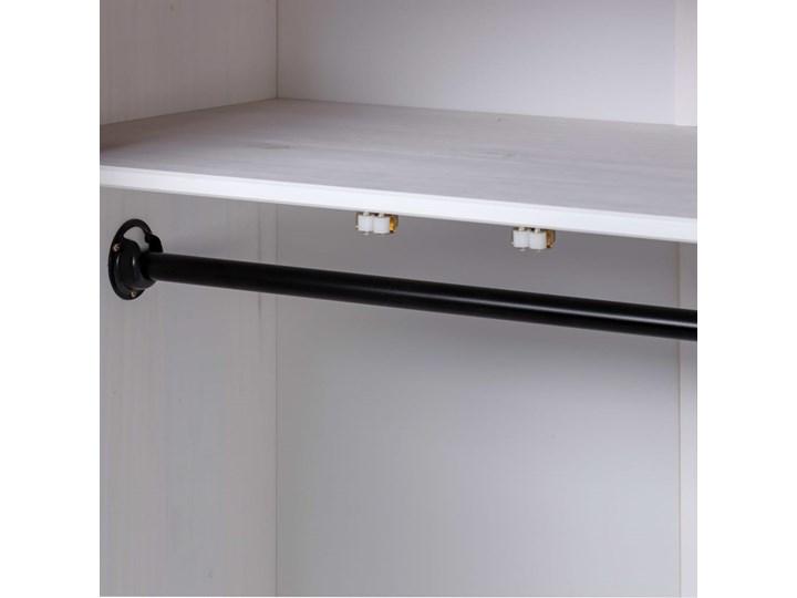 vidaXL Szafa trzydrzwiowa, biała, 118x50x171,5 cm, sosna, seria Panama Drewno Wysokość 171 cm Typ Gotowa Szerokość 118 cm Głębokość 50 cm Pomieszczenie Garderoba