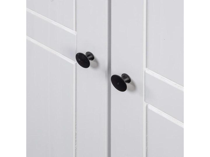 vidaXL Szafa trzydrzwiowa, biała, 118x50x171,5 cm, sosna, seria Panama Szerokość 118 cm Głębokość 50 cm Drewno Wysokość 171 cm Kolor Biały