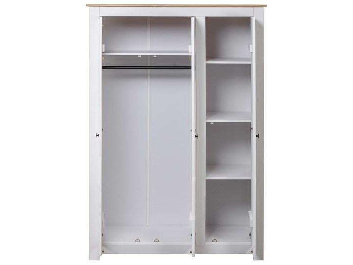 vidaXL Szafa trzydrzwiowa, biała, 118x50x171,5 cm, sosna, seria Panama Szerokość 118 cm Głębokość 50 cm Drewno Wysokość 171 cm Typ Gotowa