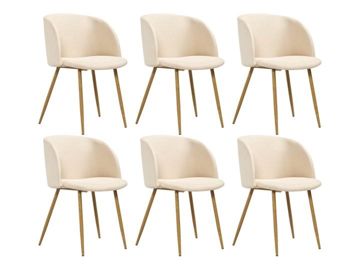 vidaXL Krzesła do jadalni, 6 szt., kremowe, tapicerowane tkaniną