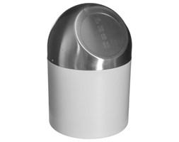 Kosz łazienkowy MINI ze stali nierdzewnej, 1,3 L, biały