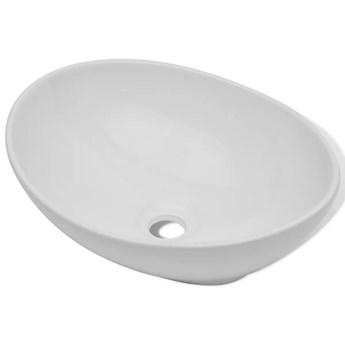 vidaXL Luksusowa ceramiczna umywalka, owalna, biała, 40 x 33 cm